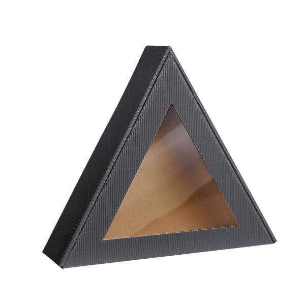 pudełko prezentowe trójkątne z okienkiem