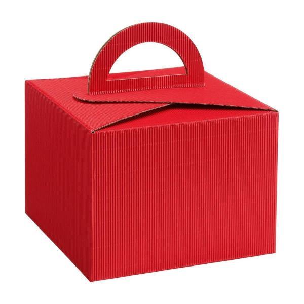 Pudełko prezentowe czerwone z rączką