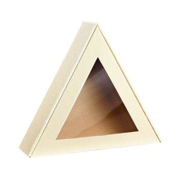 Opakowanie prezentowe trójkąt kremowy