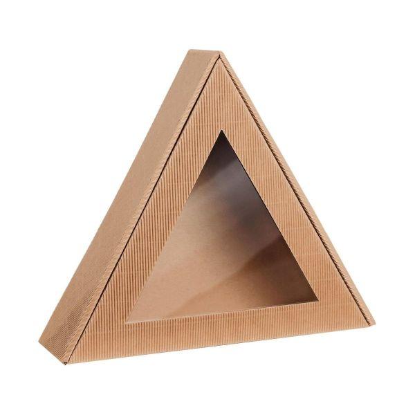 Pudełko prezentowe trójkąt natura