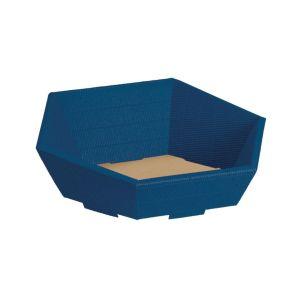Niebieski kosz na prezenty firmowe