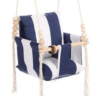Huśtawka Vintage Decor Blue Stripes
