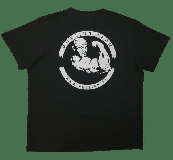 Sama czarna koszulka Cierpliwy i kamień ugotuje z tyłu