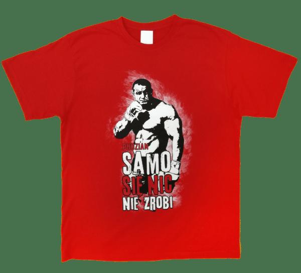 Sama koszulka z przodu - Samo się nic nie zrobi czerwona