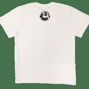 Sama koszulka z tyłu - Tanio skóry nie sprzedam biała