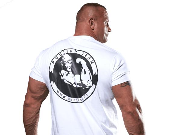 Cierpliwy kamień ugotuje biała koszulka z tyłu