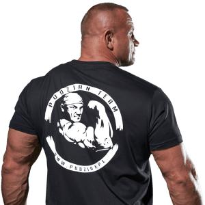 Czarna koszulka Pudzian Team z tyłu