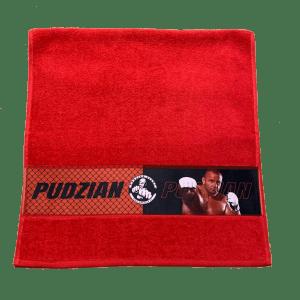 Czerwony ręcznik Pudzian Team