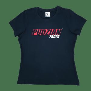 Czarna damska koszulka Pudzian Team - przód