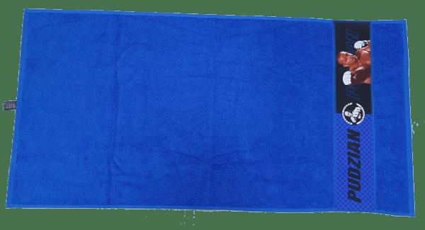 Poziomo niebieski ręcznik Pudzian Team