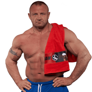 Czerwony ręcznik Mariusza Pudzianowskiego
