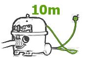 długi kabel 10m odkurzacz HHR Harry Numatic
