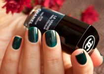 Chanel #679 Vert Obscur swatches by Ann Sokolova