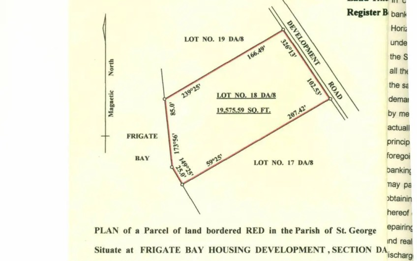 Land for sale in Frigate Bay Housing Development | Lot 18 | 19,575.59 sq ft