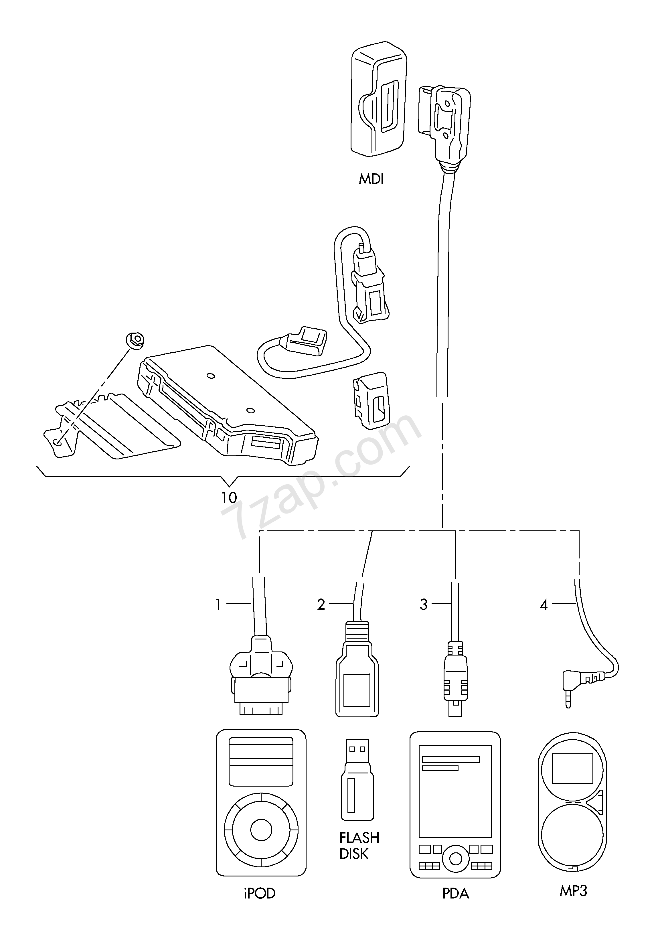 Adapter Wiring Set For Multimedia Interface Box