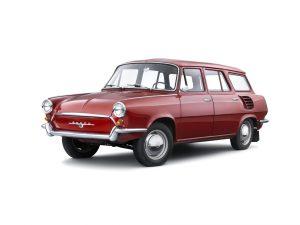 """Prototyp kombi s motorem vzadu ŠKODA typ 990 """"Hajaja"""" vznikl v roce 1963 v jediném exempláři"""