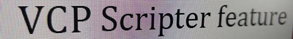 VCP Scripter. Часть 2. Синтактсис