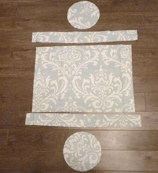 자신의 손으로 쿠션 롤러를 바느질하는 방법 : 패턴, 크기 크기