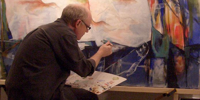 Akrylmalerier giver mig en hurtig og lugtfri arbejdsproces uden hovedpine