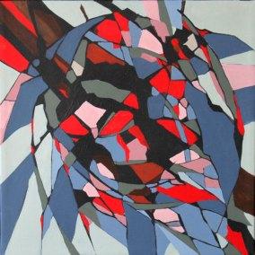Abstrakt maleri her af en artiskok