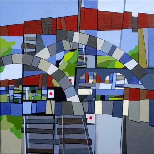 abstrakt maleri af spor