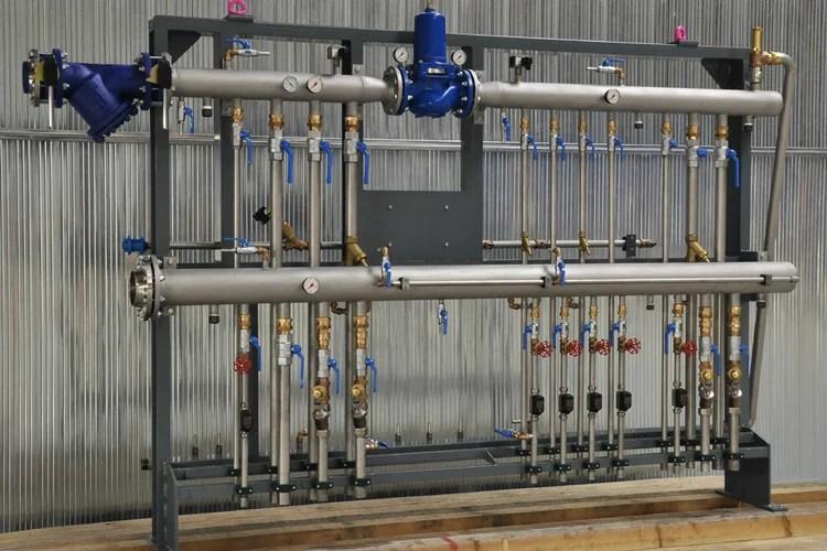 Gasverteiler Kühlwasserverteiler
