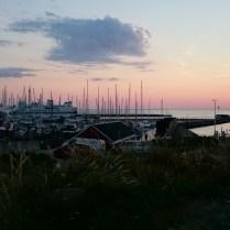 Solnedgang over Vesterøhavn