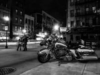 Shiny police motorcycle
