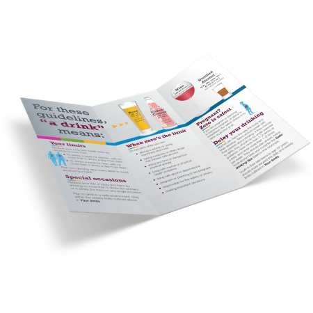 3-019: Canada Low-Risk Alcohol Drinking Guidelines Brochure