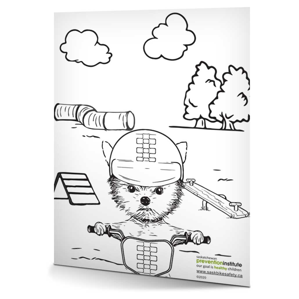 Bicycle Safety Week 2020 Colouring Activity Sheet 2020