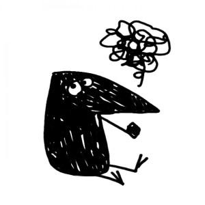 illustration bird skraentskov