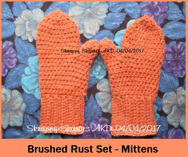7m Brushed Rust Set Mittens