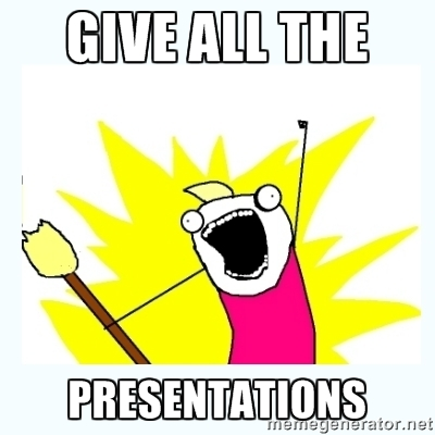 GIVE ALL THE PRESENTATIONS