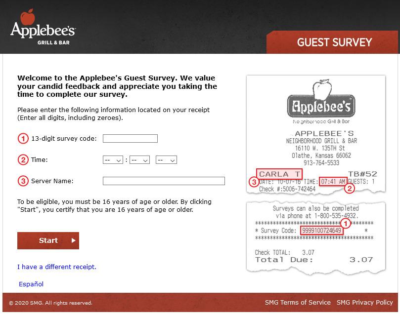 Myapplebeesfeedback - Win $100 Gift Card - Apple Bees Survey