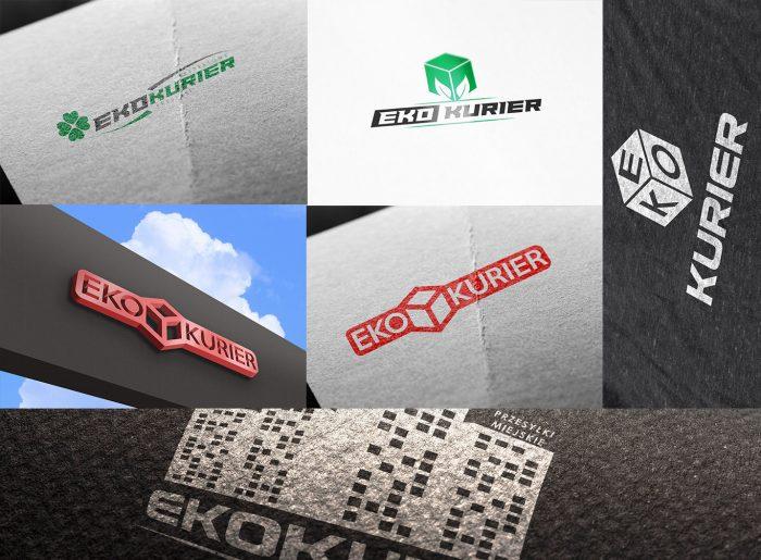 mockup projekt logo dla firmy Eko Kurier