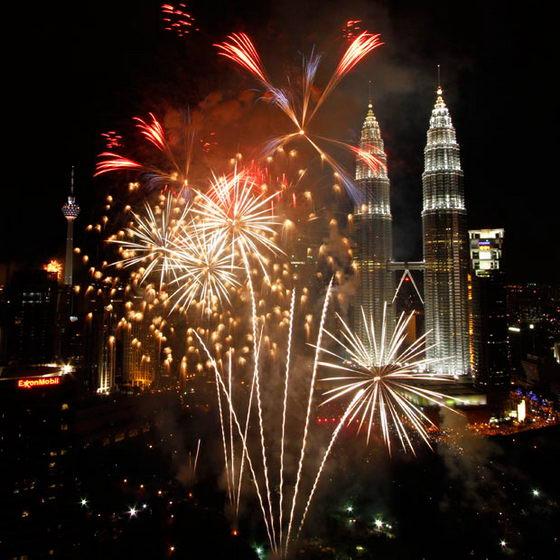 Фейерверки в Куала-Лумпуре