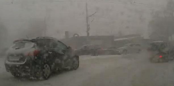 Снегопад в Ростове 28 января 2014