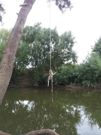 Swinging rope over Bathurst River