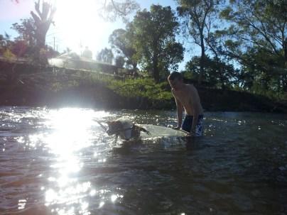 Sax's first surf, Little River