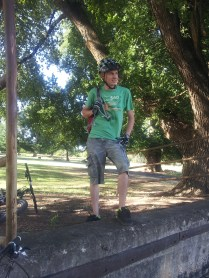 Conquering the shade, Tumut River