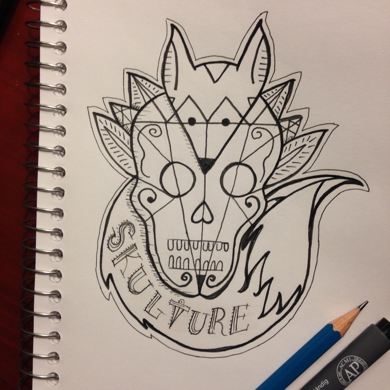 Skull and fox logo