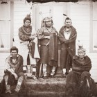 Native American Indians in Wool Blankets