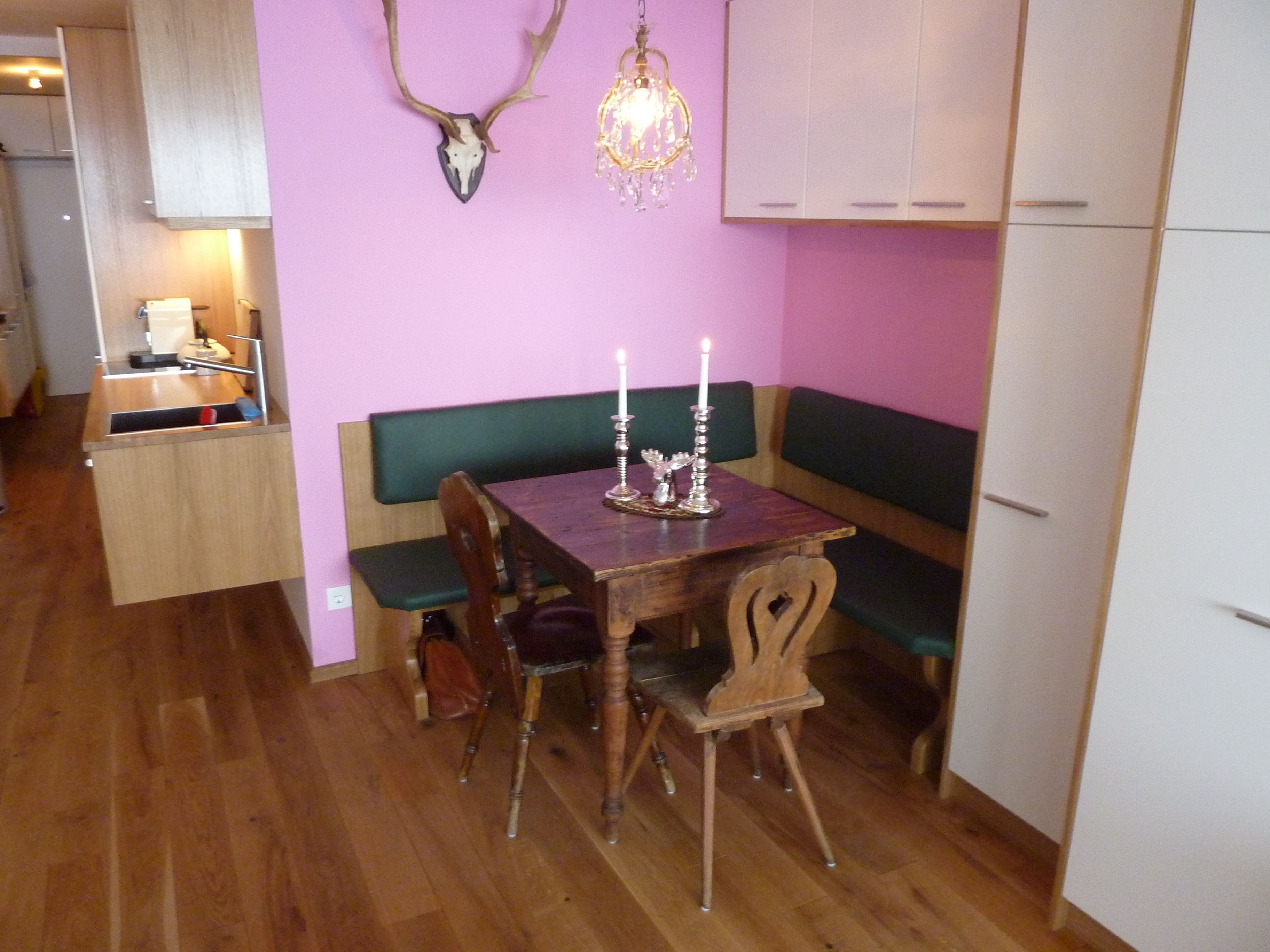 Dining Table: Built In Corner Dining Table