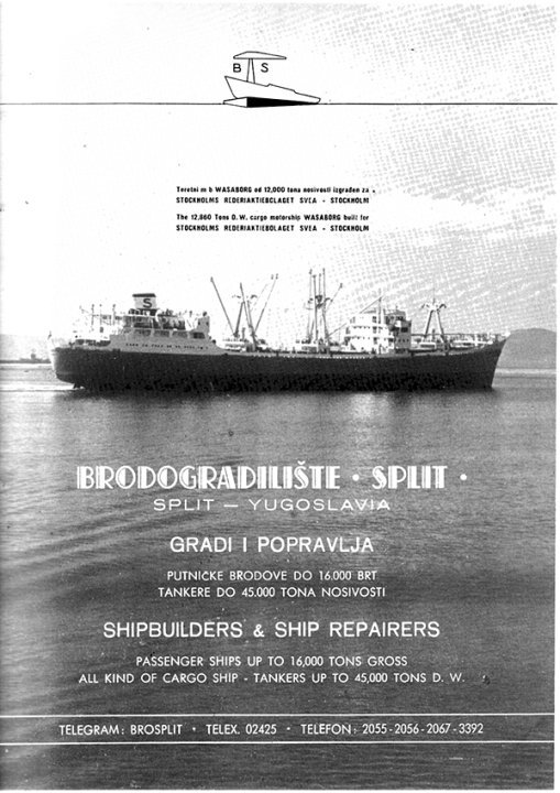 Brodogradilište SPLIT - stari plakat