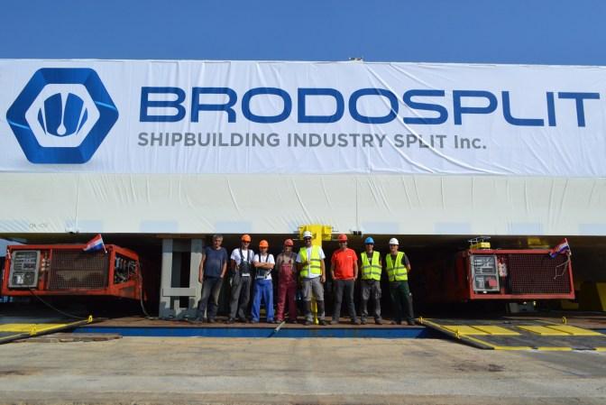 Brodosplit - Projekt Mojsije - Transport, 2.9.2016. - FOTO Škveranka