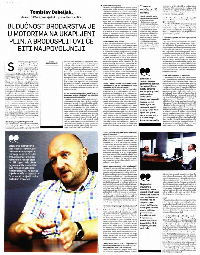 Intervju - Tomislav Debeljak za Lider, 30.6.2017.