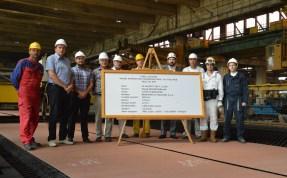 22.8.2017. U Brodosplitu obilježen početak obrade čelika za Novogradnju 484 na plazma stroju za obilježavanje i rezanje limova pod vodom.