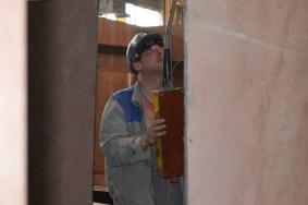 Brodomonter na liniji za montažu i zavarivanje polusekcija u Brodosplitovoj brodoobradnoj radionici