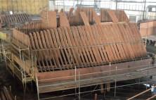 Izgradnja polarnog broda u 1. lođi nove predmontažne hale u Brodosplitu