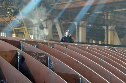 Obrada čelika za Nov. 484 u Brodosplitovoj brodoobradnoj radionici